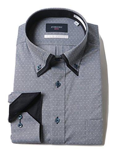 土ミュートファッション(ハイブリッドビズ) HYBRIDBIZ 大きいサイズ メンズ ウルトラストレッチ 形態安定 長袖 ワイシャツ