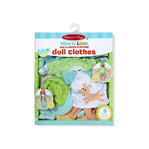 Melissa & Doug 31719 Mine to Love Mix & Match Playtime Doll Clothes for...