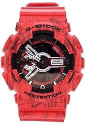 Casio G-Shock Men's Analog-Digital Red Strap Watch GA110SL-4A