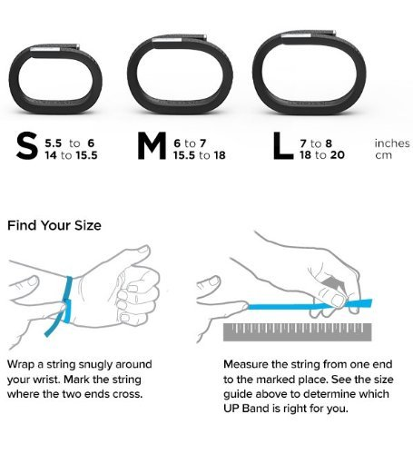 Up By Jawbone Tracking Wristband - 24/7 Activity Tracking - Inside and Out (Medium) by Jawbone (Image #2)