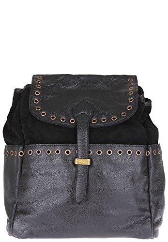 Anokhi - Bolso mochila  de piel para mujer negro