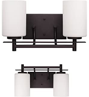 2 bulb vanity light bar wall fixture interior lighting oil rubbed bronze - Vanity Light Bar