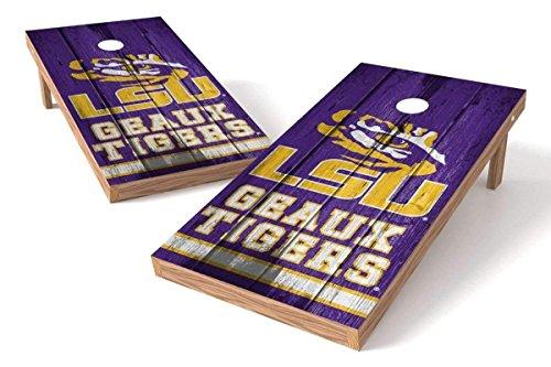 PROLINE NCAA College 2' x 4' LSU Tigers Cornhole Board Set - Vintage by PROLINE