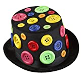 Dress Up America Adults Fancy Multicolored Party Hat with Buttons