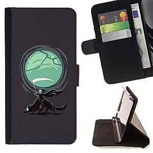Momo Phone Case / Flip Funda de Cuero Case Cover - Parca & Wolf;;;;;;;; - Samsung Galaxy Note 3 III