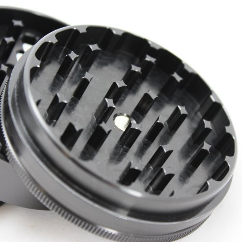 Large Santa Cruz Shredder Black 4 Piece Grinder with a Cali Crusher® Pollen Press by Santa Cruz Shredder