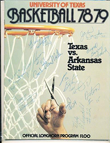 12 signatures on University of Texas Basketball 1978 program ()