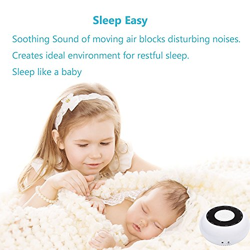 L\'émouchet White Noise Sleep Sound Machine 15 Natural Sounds, Relax and Focus Therapy Soothing Player with Timer Option, Memory Function,Speaker & Headphone Jack