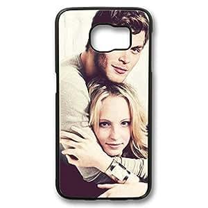 iCustomonline The Vampire Diaries Protective Black Plastic Hard Case for Samsung Galaxy S6 Edge