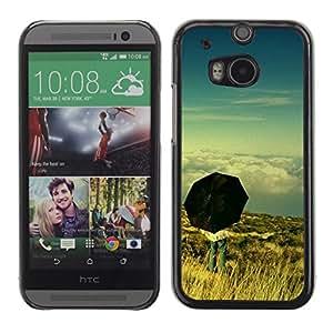 TopCaseStore / la caja del caucho duro de la cubierta de protección de la piel - Umbrella Thought Deep Meaning Sky - HTC One M8