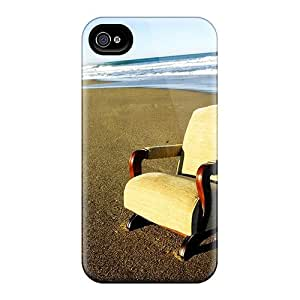 High Impact Dirt/shock Proof Case Cover For Iphone 4/4s (lonely Chair) by icecream design