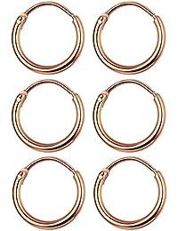 3 Pairs Stainless Steel Small Cartilage Hoop Earrings For Men Women Unisex Endless Hoop Earrings 10MM