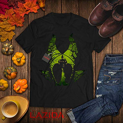 Angelina Jolie Halloween Costume (LAZIDA Dark Fairy Villain Halloween Magic Witches Costume T-Shirt | Hoodie | Tank Top | Sweatshirt | Long)