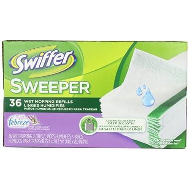 Swiffer Sweeper Wet Mopping Cloths Mop And Broom Floor Cleaner Refills Febreze Lavender vanilla & Comfort  36 Count