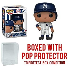 Funko POP! Sports MLB New York Yankees Aaron Judge Action Figure (Bundled with Pop Box Protector to Protect Display Box)