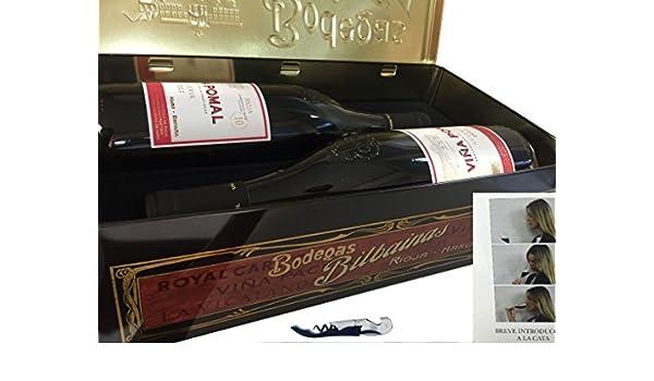 Estuche metálico 2 botellas - Viña Pomal Reserva - incluye Sacacorchos Profesional Pulltaps Original y librito de catas de REGALO - Vino tinto: Amazon.es: Alimentación y bebidas