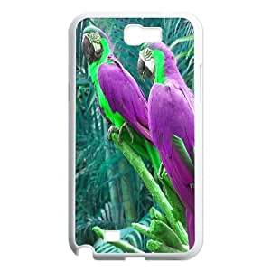 Funny Parrot,Cute Bird Protective Case 126 For Samsung Galaxy Note 2 Case At ERZHOU Tech Store