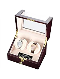 CHIYODA Dual Watch Winder with Quiet Motor, LCD Touch Screen [100% Handmade]