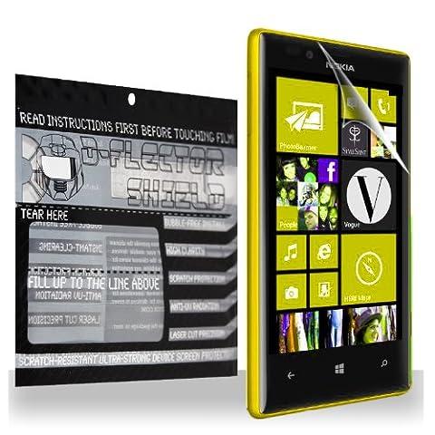 D-Flectorshield Super HD Clear Scratch Resistant NOKIA LUMIA 1520 Screen Protector - Free Replacement (Nokia Lumia 1520 Belkin Case)