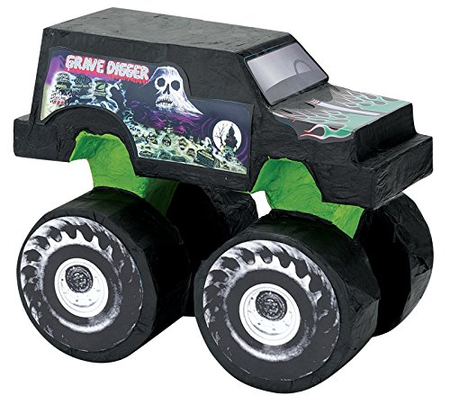 BirthdayExpress Monster Jam Party Supplies - Grave Digger Pinata