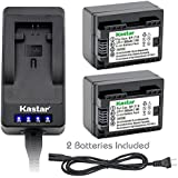 Kastar LED Super Fast Charger & Battery x2 for Canon BP-718 BP718 BP-727 BP727 and Canon VIXIA HF M38 HF M36 HF M306 HF HF M506 HF M66 HF M68 HF M606 HF M76 HF M78 HF M706 HF M86 HF M88 HF M806 Camera