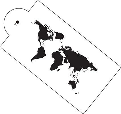 Gooday mapa del mundo para tartas plantilla aerógrafo pintura arte ...