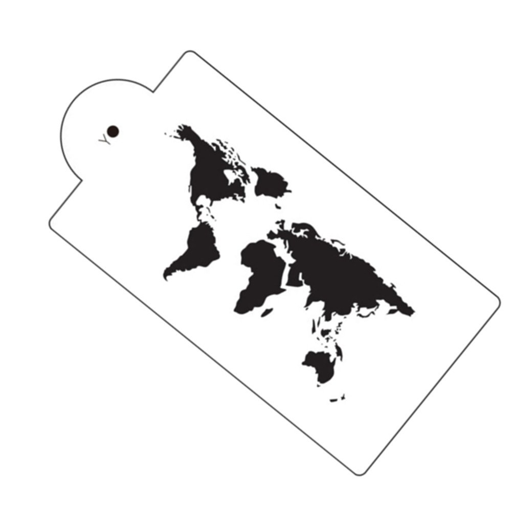 World Map Cake Stencil Airbrush Painting Art Mold Cookies Fondant Molds DIY Cake Mousse Brim Decorating Tools Bakeware Gooday