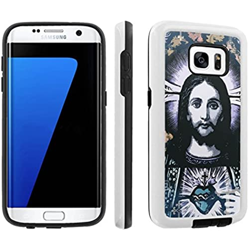 [Galaxy S7] [5.1 Screen] Armor Case [Skinguardz] [White/Black] Shock Absorbent Hybrid - [Jesus Christ] for Samsung Galaxy S7 / GS7 Sales