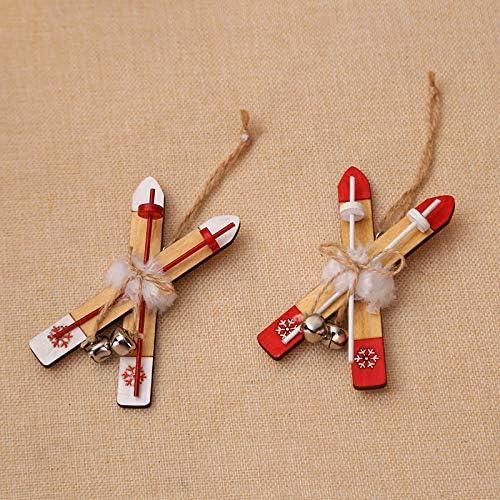 Sungpunet Ornement de No/ël Sled D/écoration de No/ël en Bois pour la Maison en Bois de Ski de Bell No/ël Ornements Enfants Cadeau