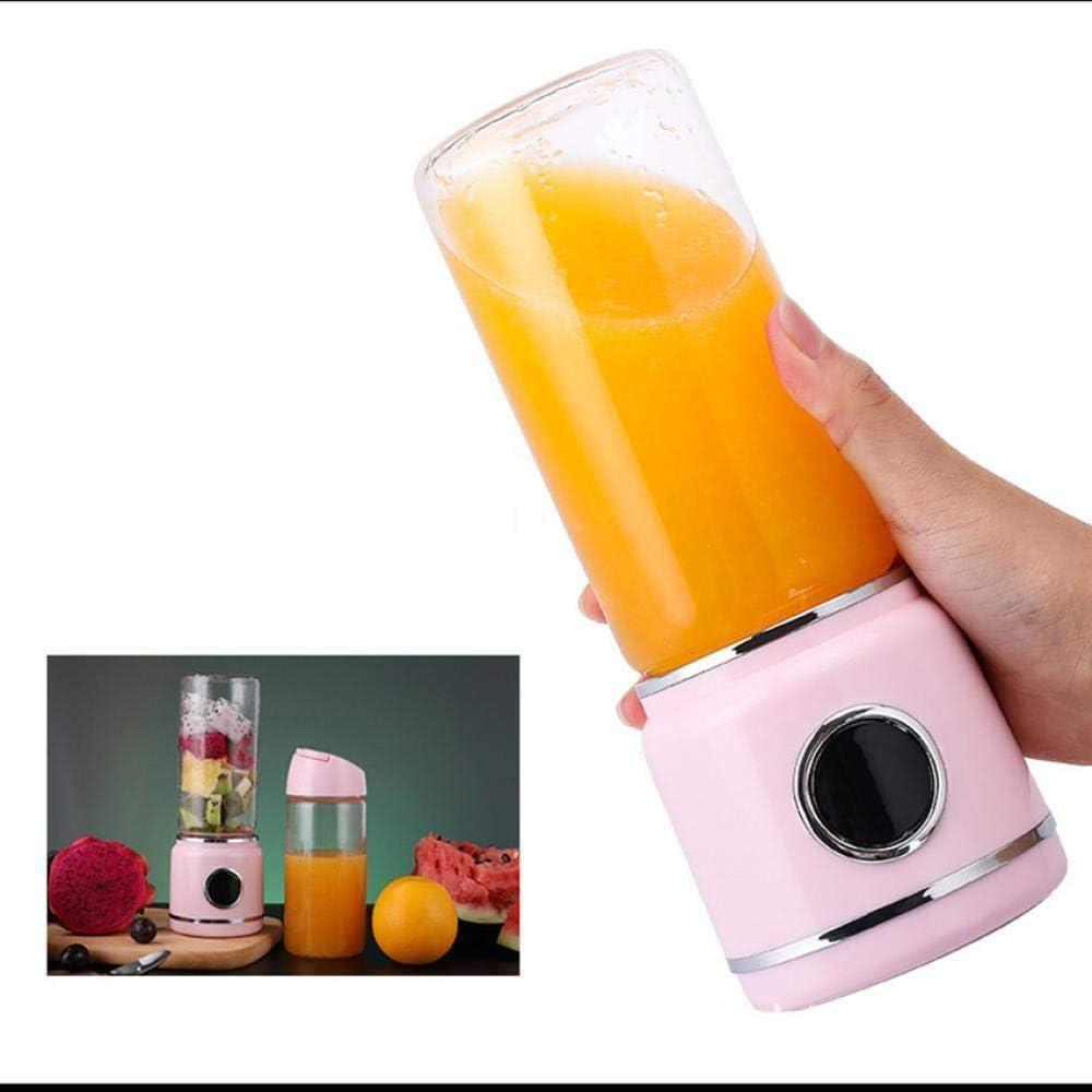 XTMM Frullatore Ad Alta velocità Portatile Elettromeccanico Ricarica Dinamica Mini Succo di Frutta E Verdura Spremiagrumi Multifunzione Tazza di Succo Rosa Pink