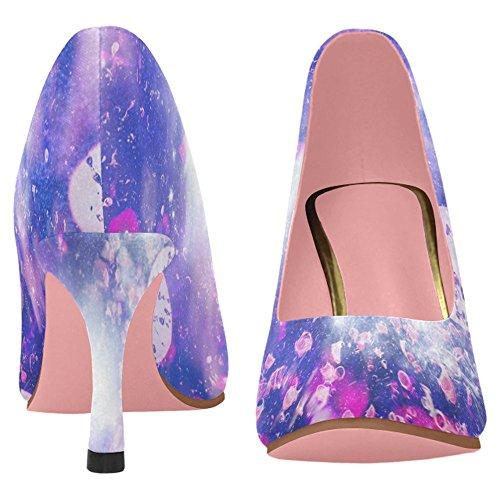 InterestPrint Womens Classic Fashion High Heel Dress Pump Shoes Multi 8 T06JF