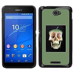 // PHONE CASE GIFT // Duro Estuche protector PC Cáscara Plástico Carcasa Funda Hard Protective Case for Sony Xperia E4 / Apple Core Skull Doctor Away Life /