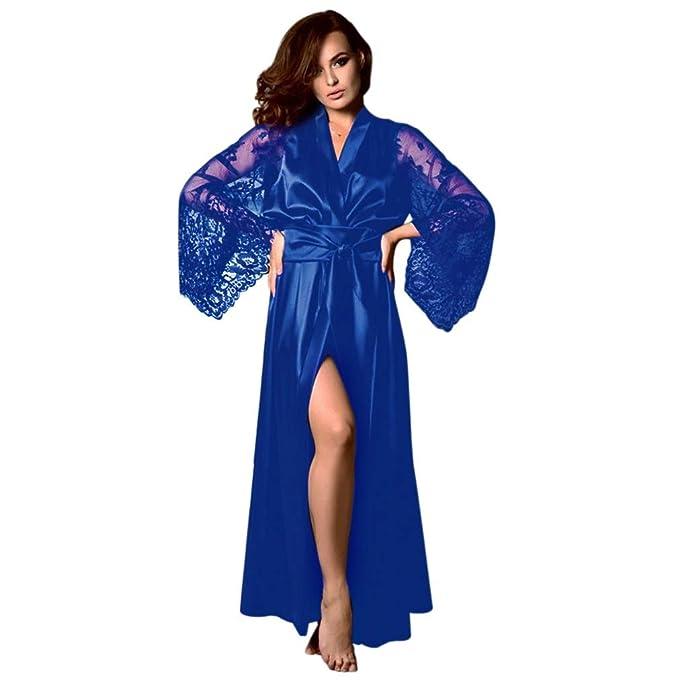 Batas Lencería Mujer, Gusspower Babydoll de Vestido de Kimono Sexy para Mujer Lencería de Encaje Ropa de baño Robe bañador de baño Camisón Dormir Pijamas: ...