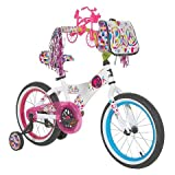 Girl's Barbie Bicycle with Training Wheels, Front Tote and Mini Barbie Bike - 16''