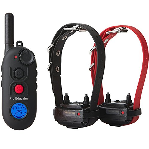 Educator PE-902 Two Dog Pro 1/2 Mile E-Collar Remote Dog Training Collar With Vibration, Tapping Sensation and Pavlovian Stimulation ()
