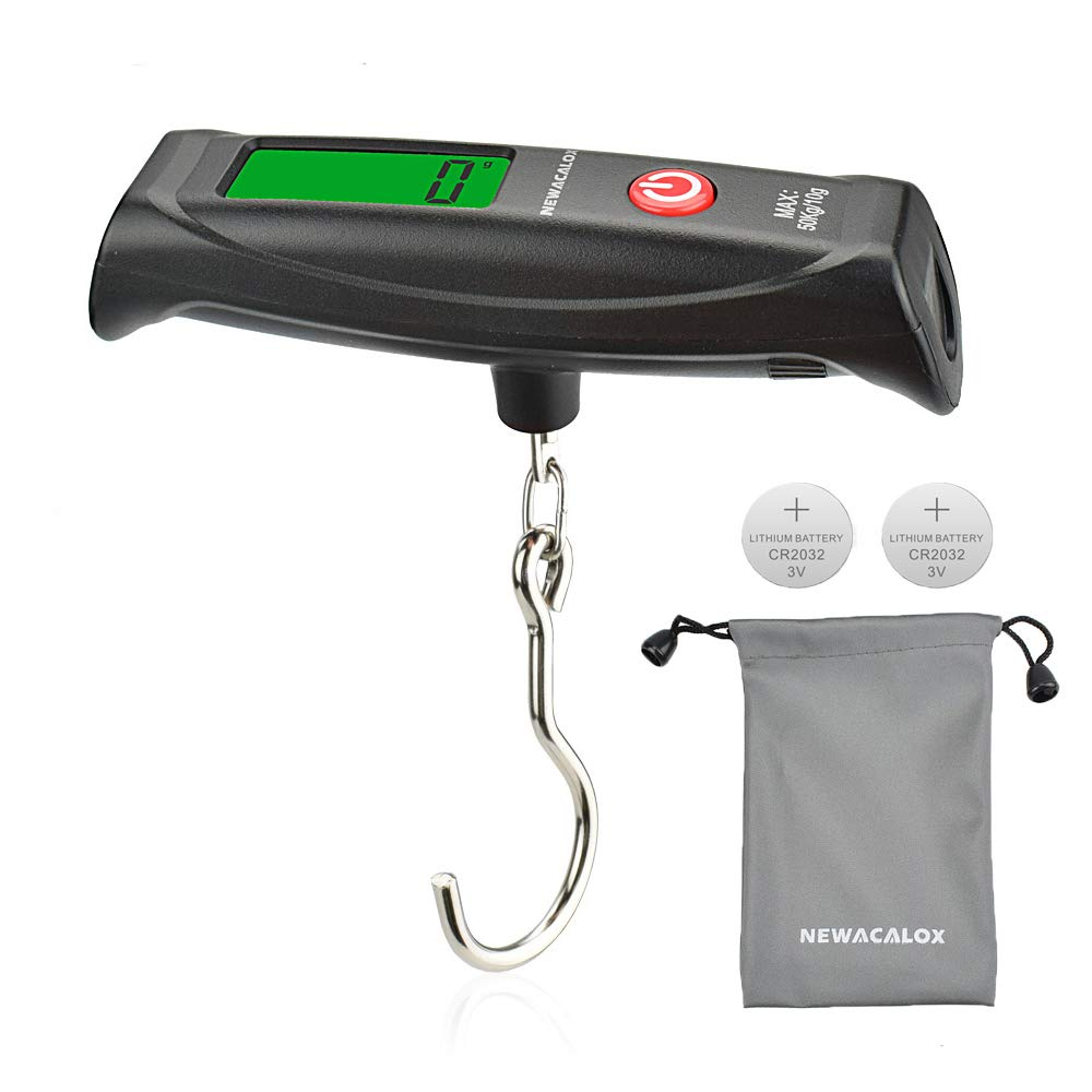 0d214f135fcc Luggage scale 110lb with 2 Battery 1 Waterproof Bag, NEWacalox Digital  Luggage Mini Travel Scale Weigh Suitcases Hand Luggage Bags Black