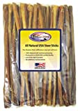 Shadow River 25 Pack 12 Inch Thin All Natural Steer Sticks for Dogs
