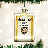 OLD WORLD CHRISTMAS ARMY GRADUATE DIPLOMA BLOWN GLASS ORNAMENT 3.25''