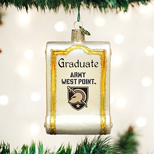 OLD WORLD CHRISTMAS ARMY GRADUATE DIPLOMA BLOWN GLASS ORNAMENT 3.25'' by Old World