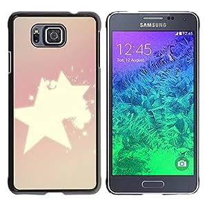 MOBMART Carcasa Funda Case Cover Armor Shell PARA Samsung ALPHA G850 - Radiance Of Shinning Stars