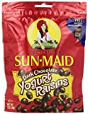 Sun Maid Dark Chocolate Yogurt Raisins, 7-Ounce Pouches (Pack of 6)