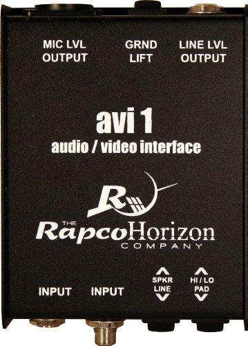 Rapco Horizon AVI-1 Audio/Video Passive Interface Signal Converter