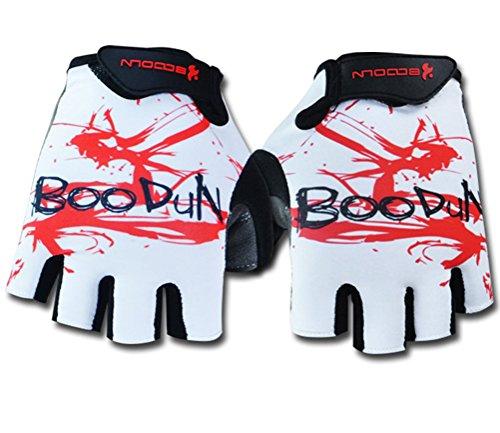 Mens Ultra Light Breathable Lycra Anti-Slip Shock Absorbing Gel Grip Mountain Road Cycling Gloves Half Finger Racing Biker