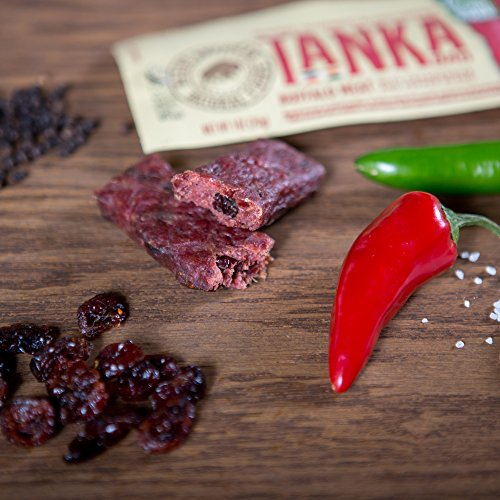 Bison Pemmican Meat Bars with Buffalo & Cranberries by Tanka