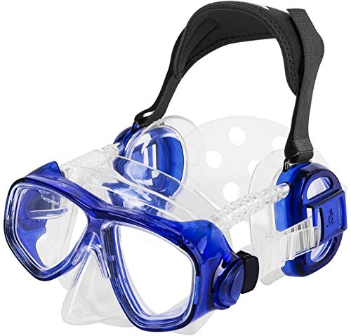 IST ME80 ProEar Pressure Equalization Mask with Watertight Ear Cups (Blue) (Renewed) ()