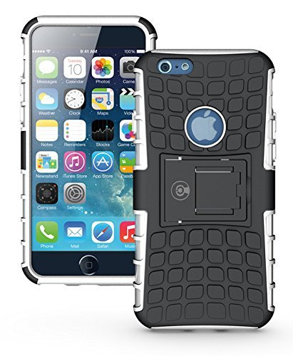 Protective Iphone 6 Case By Cable And Case   Shockproof Iphone 6S Case   Cover With Kickstand  Phone Cases Thinner Than Your Wallet   White