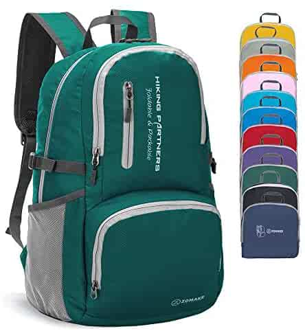 9cb6ae741 ZOMAKE Lightweight Travel Backpack, Packable Water Resistant Hiking Daypack  Foldable Backpack for Women Men