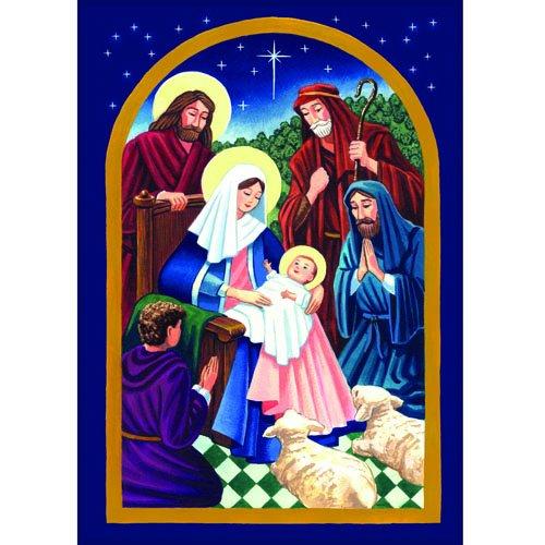 Toland Home Garden Nativity Night 28 x 40 Inch Decorative Colorful Christmas Jesus Birth House Flag - -