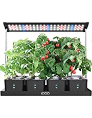 iDOO 20Pods Indoor Herb Garden, LED Grow Light for Indoor Herb Planter with Customize Timer, 4pcs Removable Water Tanks for Indoor Outdoor Hydroponics Growing, Height Adjustable, I-D-01