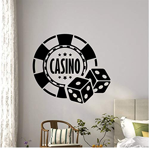 (LSFHB Casino Wall Decal Dice Aces Poker Play Room Holdem Cards Game Art Teen Kids Room Wall Decor Wall Sticker)